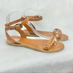 MADEWELL Sightseer Sandals brown braided leather